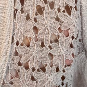 LOFT Sweaters - Ann Taylor Loft Sweater with Floral Lace Detail